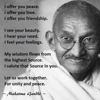 Understanding the Universal Source through the words of Mahatma Ghandi